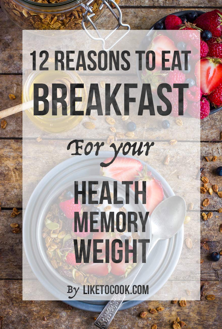 reasons to eat breakfast